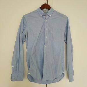 J. Crew Blue slim fit long sleeve button up shirt